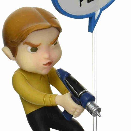 Captain Kirk Figur mit Sprechblase