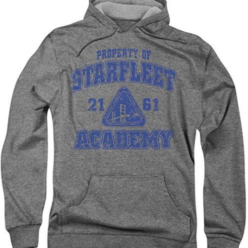 Star Trek Academy Hoodie old School in grau