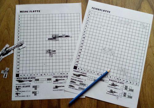 Flottenmanöver im Star-Trek-Style zum Ausdrucken