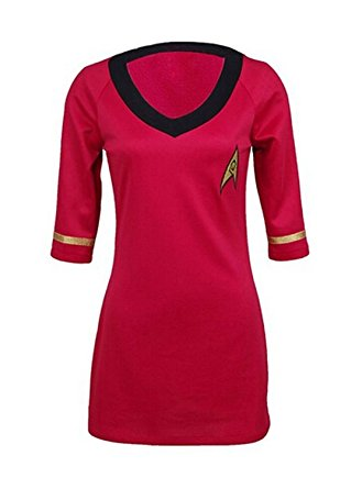 Star Trek Damen Kostüm Uhura rot