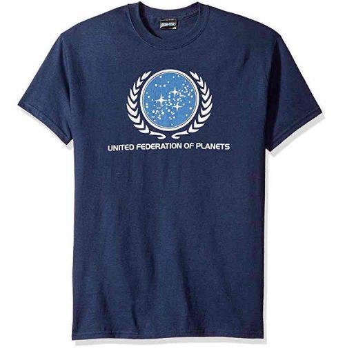 Star Trek Föderation T Shirt blau