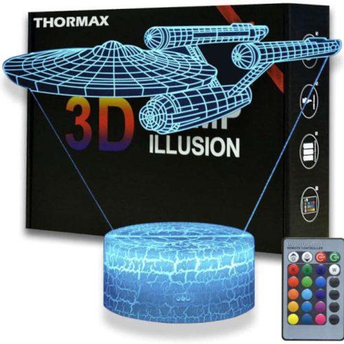 Star Trek Lampe 3D Thormax 16 Farben